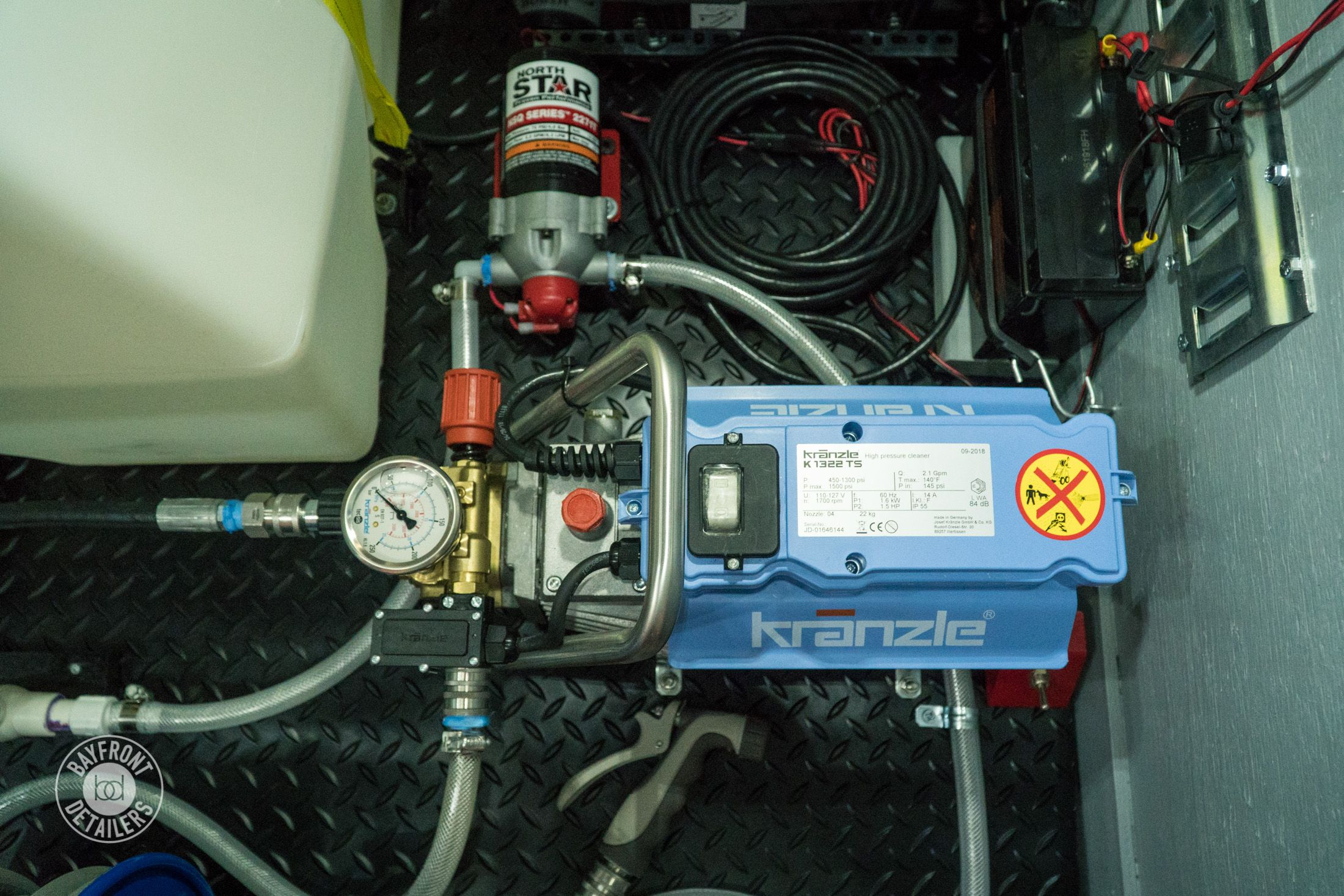 Kranzle K1322TS pressure washer, water pump and deep cycle battery